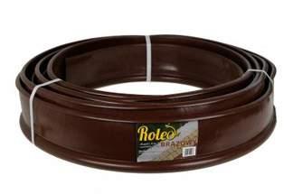 Elastyczne obrzeże ogrodowe Roleo 11cm x 10m - kolor brązowy