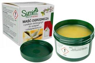 Maść ogrodnicza Sumin 60g + paski do szczepień – do smarowania ran drzew i krzewów