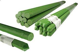 Metalowa tyczka ogrodowa, powlekana PCV do podpierania roślin 1,1cm x 90cm - 100 szt