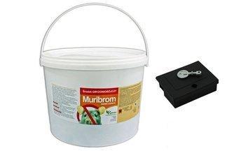 Muribrom trutka zbożowa 5 kg - trutka na myszy, szczury i nornice +Gratis  karmnik deratyzacyjny MOUSE BOX z kluczykiem