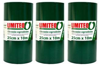 Obrzeże trawnikowe ogrodowe zielone, proste 25cm x 30m LIMITEO