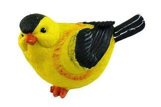 Ozdobny ptak ogrodowy B żółty – figurka, dekoracja ogrodu