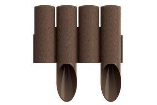 Palisada ogrodowa STANDARD5 brąz z teksturą drewna