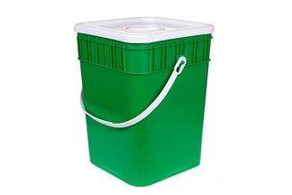 Polski, plastikowy pojemnik, wiadro do kiszenia ogórków i kapusty 15 l