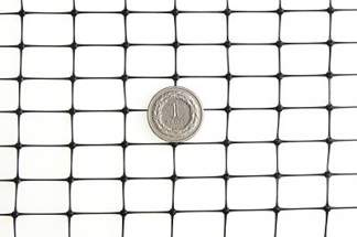 Siatka przeciw kretom, na krety, oczko 13x20mm – 2x100 m czarna + Ząbki 50 szt