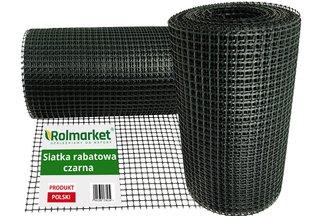 Siatka rabatowa 0,4x25m czarna