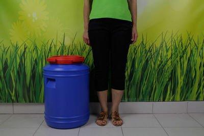 Beczka plastikowa (niebiesko-czerwona) 50 litrów