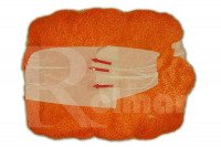Rękaw siatkowy do pakowania warzyw i owoców - pomarańczowy, 0,38x100m