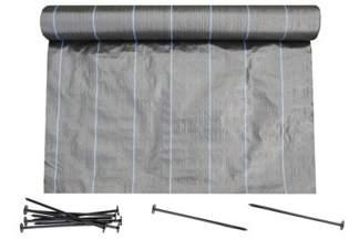 Agrotkanina czarna Agritella 0,8x100m 90g + szpilki mocujące 19cm 50szt