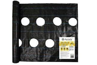 Agrotkanina czarna z otworami Agritella 1,1x50m 90g