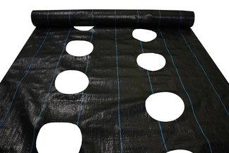 Agrotkanina czarna z otworami Agritella na metry, szerokość 1,1m 90g