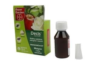 Decis Ogród 015 EW Bayer 100 ml – środek owadobójczy na szkodniki występujące w ziemniakach, jabłoni, róży, kocimiętce faassena i asterze chińskim (na mszyce, stonkę)