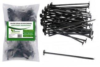 Długie szpilki plastikowe 19cm do mocowania agrotkaniny i agrowłókniny (1000 szt.)