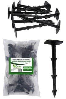 Kołki plastikowe do mocowania agrotkaniny, agrowłókniny i geowłókniny, ząbki 15cm (100 szt.)