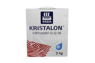 Kristalon czerwony 12-12-36 Vila Yara 3kg - uniwersalny nawóz do roślin