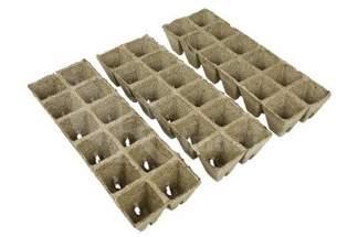 Kwadratowe doniczki torfowe do rozsad nasion warzyw oraz roślin ozdobnych 3x12szt