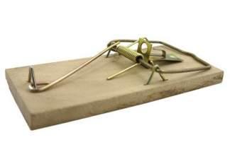Łapka (pułapka) drewniana na myszy BROS