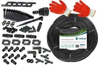 Linia kroplująca ( wąż kroplujący) 400 mb 2l/h 33cm + 100 akcesoriów