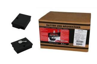 Murin forte – trutka granulowana na gryzonie, szczury i myszy 20kg + 2 Karmniki deratyzacyjne Mouse Box z kluczykami