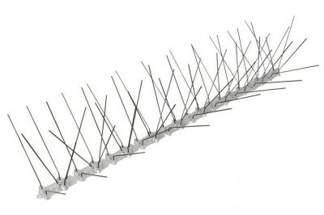 Najgęstsze, profesjonalne kolce na ptaki, przeciw ptakom typ X (szerokość chroniona 20-25 cm) 100cm