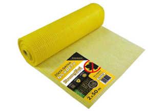 Najmocniejsza siatka przeciw kretom StrongNet - włoska (siatka na krety), oczko 15x19, kolor żółty 2x50m