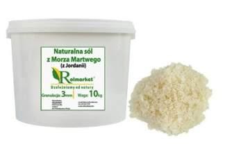 Naturalna, nieoczyszczona sól z Morza Martwego (z Jordanii) 3mm, gruboziarnista 10 kg wiaderko