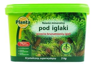 Nawóz mineralny przeciw brunatnieniu igieł w wiaderku Planta 5 kg