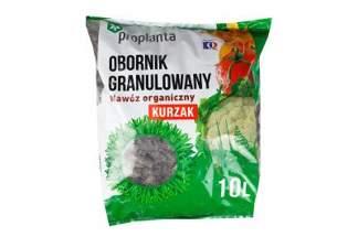 Obornik granulowany kurzy Proplanta Kurzak 40 litrów – nawóz naturalny