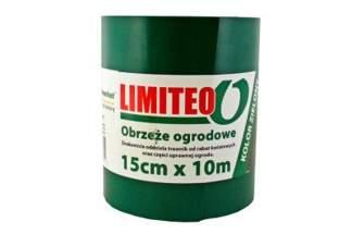 Obrzeże trawnikowe ogrodowe zielone, proste 15cm x 10m LIMITEO - 10 sztuk