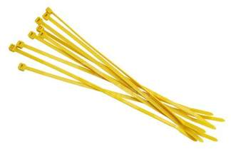 Opaski kablowe żółte 3,6x200mm (100 szt.)