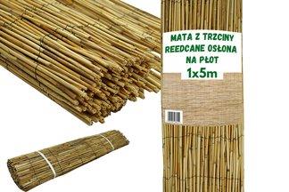 Osłonowa mata z trzciny naturalnej Reedcane 1x5m