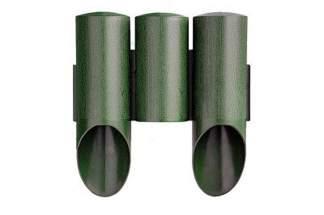 Palisada ogrodowa MAXI3 zielona z teksturą drewna
