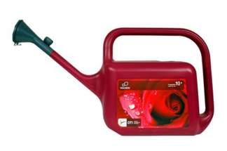 Plastikowa konewka czerwona Hagsen Trapezium 10l