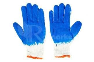 Rękawice robocze WAMPIRKI XL niebieskie 10 par