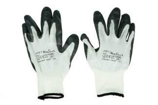 Rękawice robocze nitrylowe 8 szare