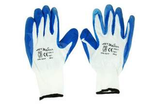 Rękawice robocze nylonowe 8 niebieskie (1 para)