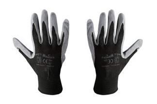 Rękawice robocze nylonowe 9 czarne (1 para)