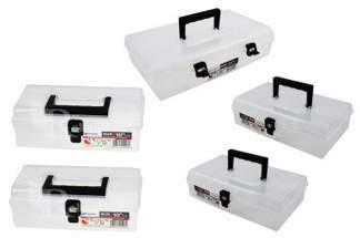 Skrzynka przezroczysta, organizer Unibox NUN10 4 szt i 1 szt Unibox NUN12 Prosperplast