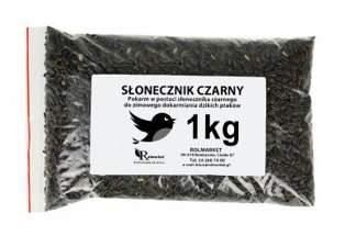 Słonecznik czarny dla ptaków na zimę na kg