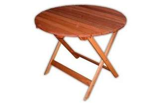 Stół ogrodowy drewniany okrągły, składany model 88173 VILLA TOSCANA