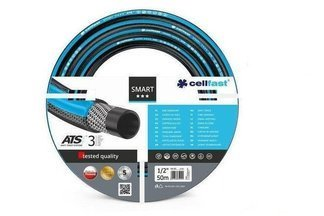 """Wąż ogrodowy Smart ATS 1/2"""" 25 m Cellfast + dysza zraszająca oraz przyłącze na kran"""