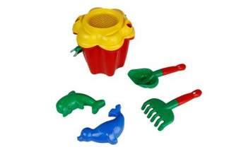 """Zestaw zabawek do piasku """"Kwiatek""""- mix kolorów, 6 elementów"""