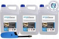 TOP FLAME 15L płyn grzewczy do biokominków + zapalarka
