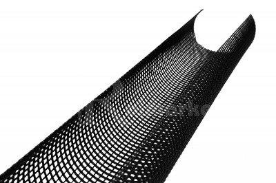 Czarna siatka ochronna na rynny przeciw liściom i zanieczyszczeniom 2mb Herakles