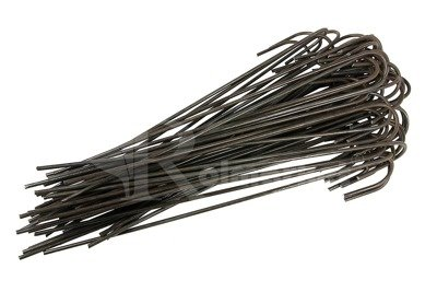 """Długie metalowe szpilki do mocowania agrotkaniny, agrowłókniny i geowłókniny, model """"J"""" 25cm - (50 szt.)"""