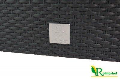 Doniczka DRTC 600 o strukturze ratanu kolor antracyt