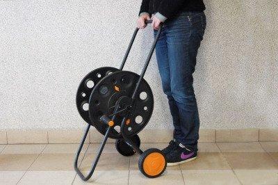 """Duży metalowy wózek na wąż ogrodowy Duramet 1/2"""" 100m"""