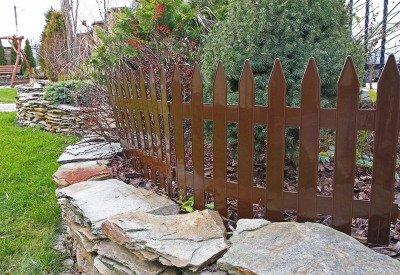 Duży płotek ogrodowy Garden Classic IPŁSU2 brązowy 3,5m