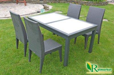Fotel ogrodowy Bahia JLC102 – krzesło z technorattanu