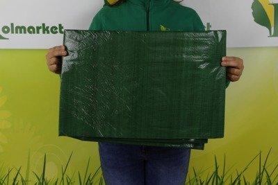 Gruba plandeka okryciowa zielona 5x8m 90gram
